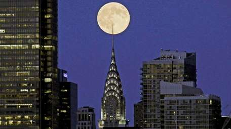 A perigee full moon also called