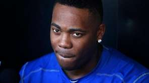 Chicago Cubs deliver Aroldis Chapman listens to a