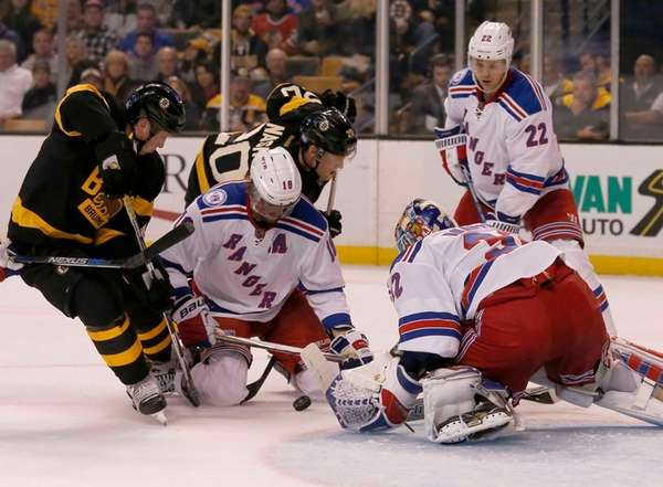 New York Rangers defenseman Marc Staal (18) and