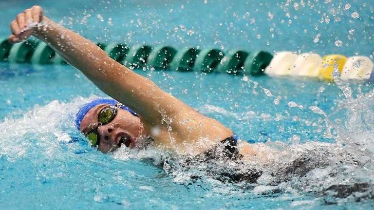 Joan Cash of Long Beach swims to fifth