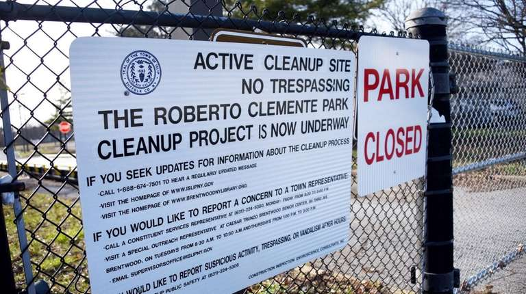 Roberto Clemente Park in Brentwood, March 30, 2016.