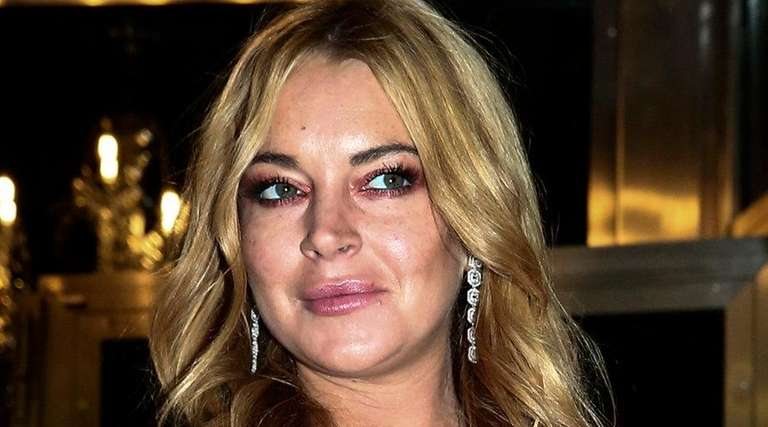 Lindsay Lohan at the opening of a new