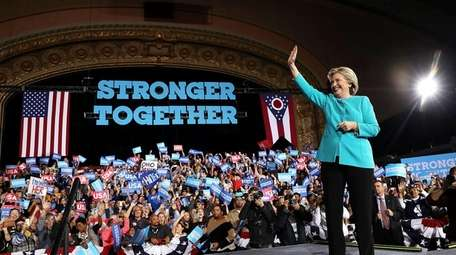 Democratic presidential nominee former Secretary of State Hillary