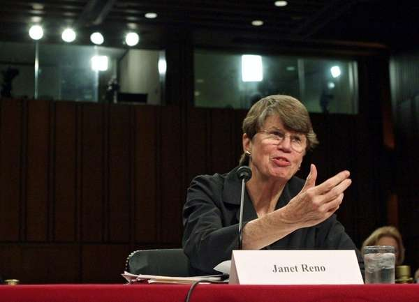 Former U.S. Attorney General Janet Reno testifies before