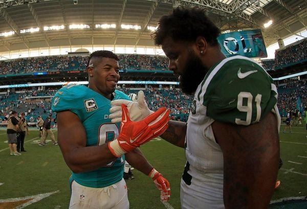 Cameron Wake of the Miami Dolphins and Sheldon