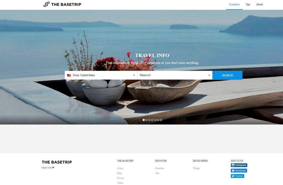 NAME thebasetrip.com WHAT IT DOES Basetrip provides basic