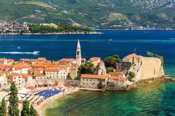 Budva has the stunning architecture typical in Montenegro,