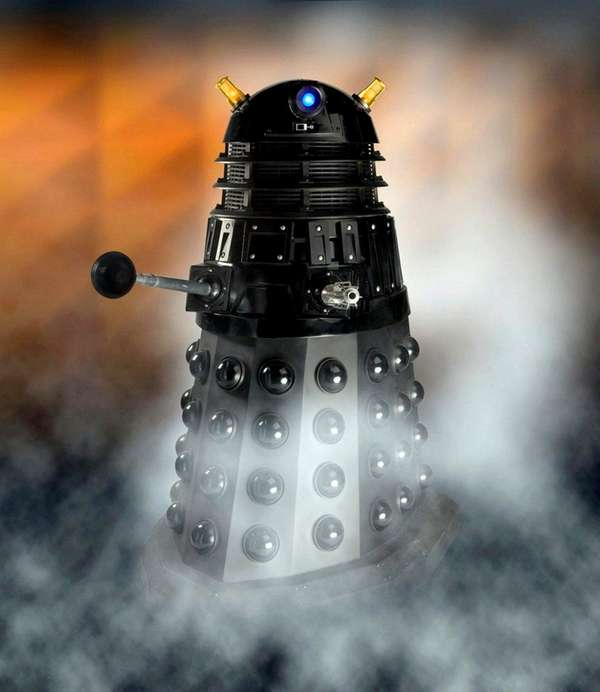 Pictured is a Dalek, a race of cyborg