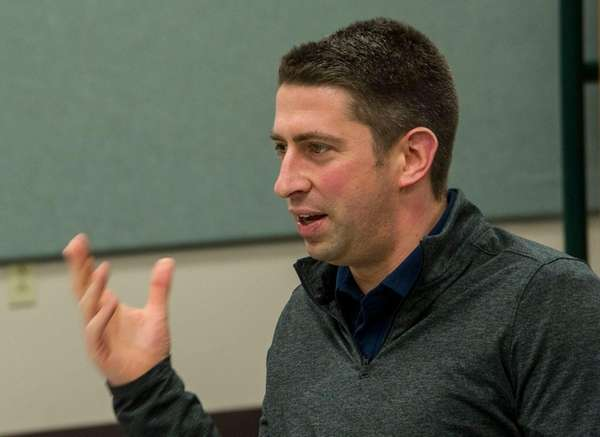 Cleveland Indians general manager Mike Chernoff answers a