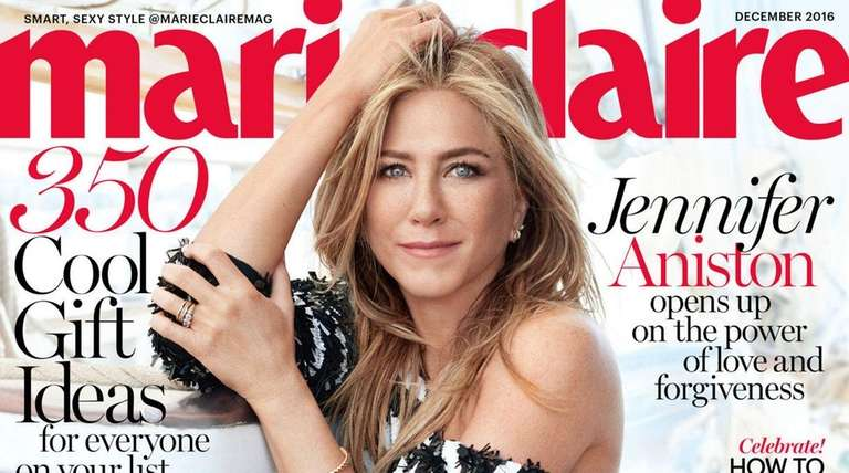 Jennifer Aniston featured on Marie Claire cover, December