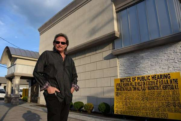 Venue owner Billy Dean stands outside the building