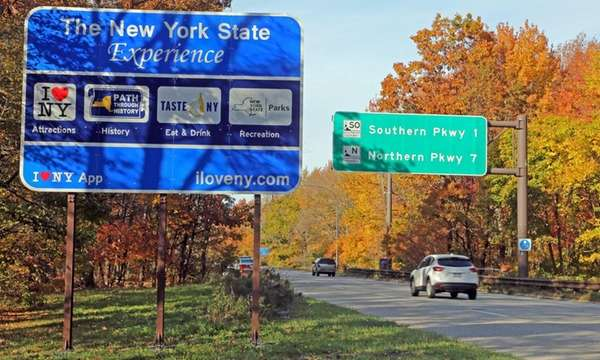 The controversial New York State tourism signs on