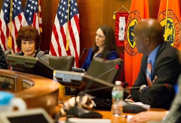 Nassau Legislator majority leader Norma Gonzalves and minority