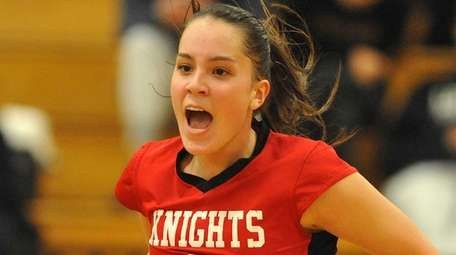 Alice Brandt of Floral Park reacts after a