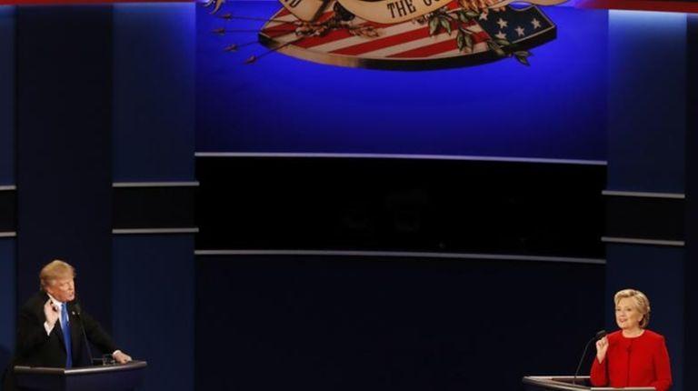 Republican presidential nominee Donald Trump and Democratic presidential