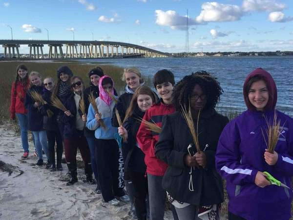 Hampton Bays High School's science research students recently