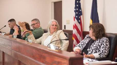Mastic Beach Mayor Maura P. Spery, second from