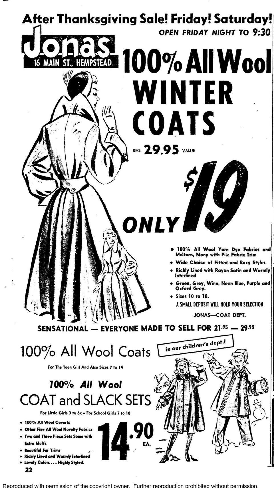 In 1951, the Jonas department store in Hempstead