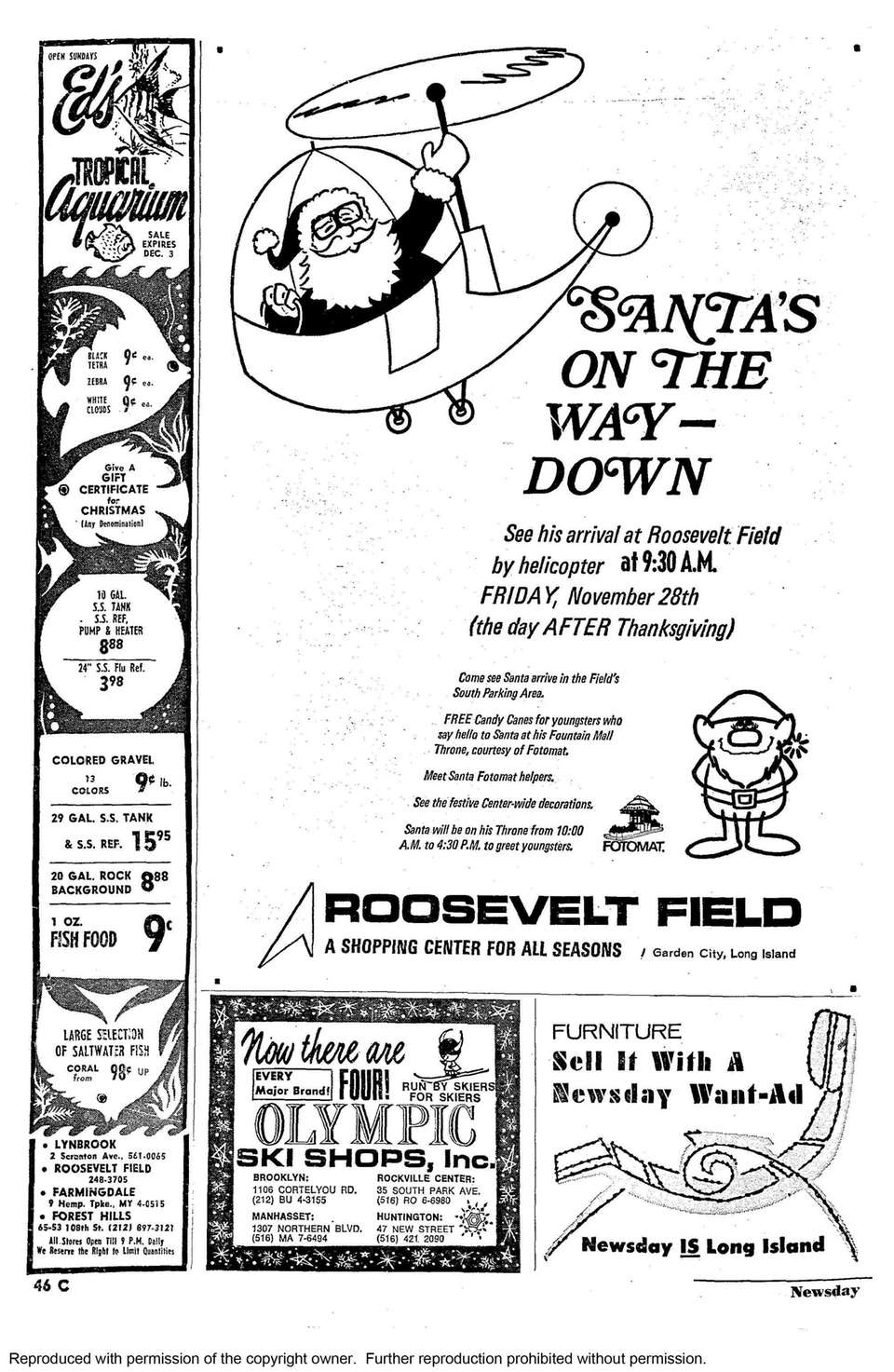 In 1969, Santa came to Roosevelt Field via