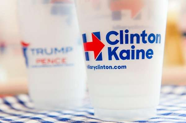 Clinton cups outsold Trump cups at The Monogram