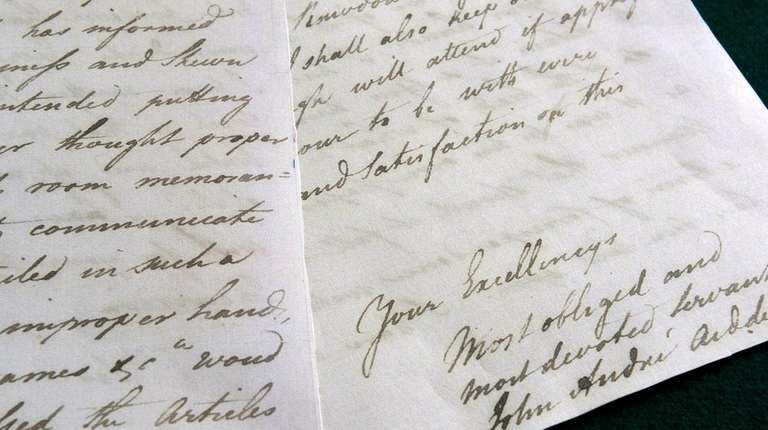 Copies of letters written by British Capt. John