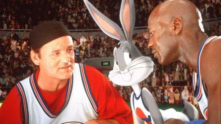Bill Murray and Michael Jordan in