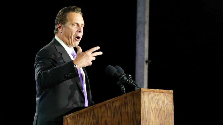 New York governor Andrew Cuomo speaks in support
