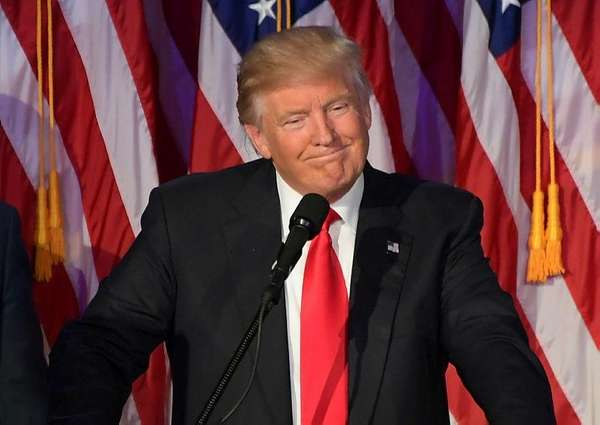 President-elect Donald Trump gives a victory speech at