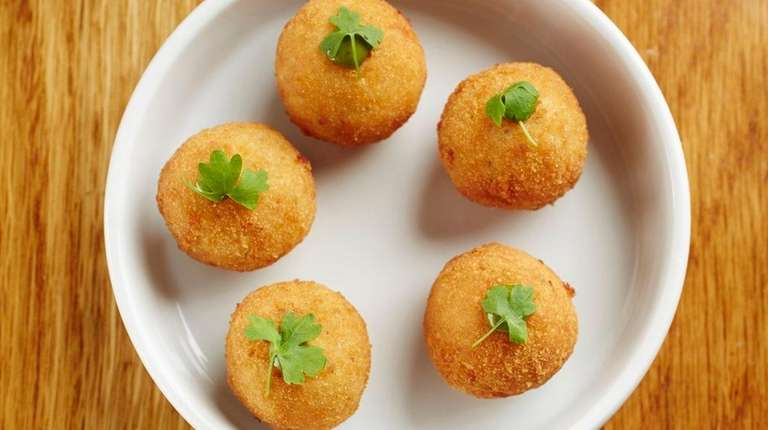 Cacio e pepe arancini are a tempting snack