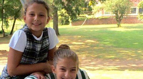 Kidsday reporters Giuliana Berrito, left, and Kate Juhel