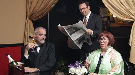 David Dubin, left, Ed Huether and Joanne Rispoli