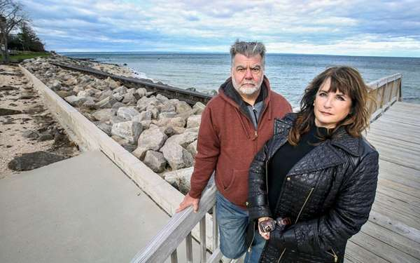Eatons Neck residents John and Christine Ballow, shown