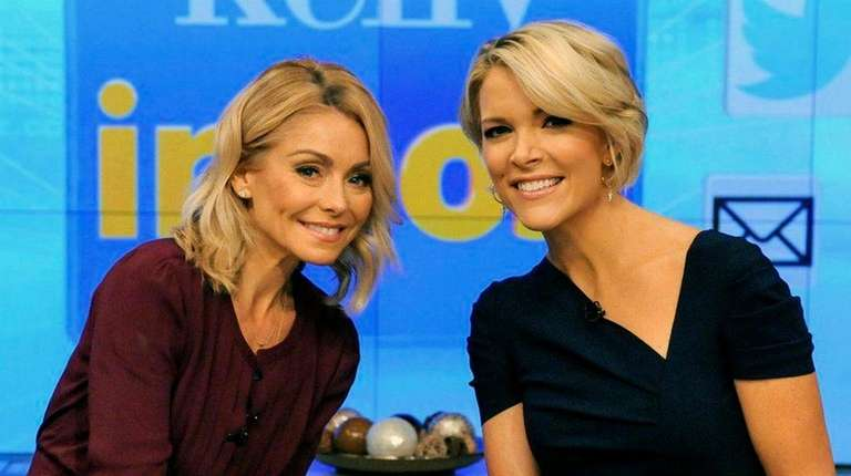 Kelly Ripa joins guest co-host Megyn Kelly during