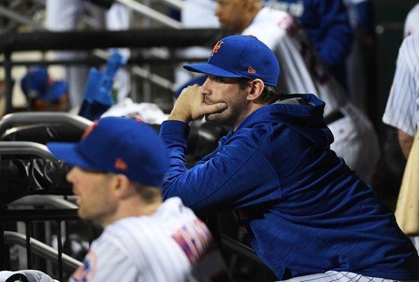 New York Mets' Matt Harvey in the dugout