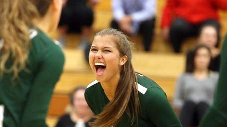 Seaford's Sophie Dandola reacts during the Nassau High