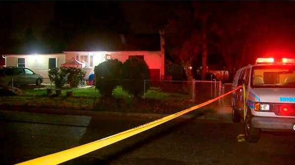 Police are investigating after two homes were struck