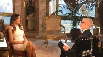 Anderson Cooper interviews Melania Trump during