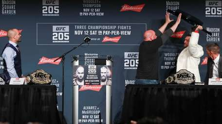 UFC president Dana White stops Conor McGregor from
