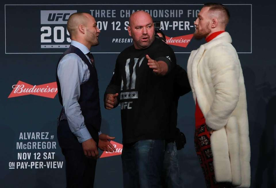 UFC president Dana White separates Eddie Alvarez and