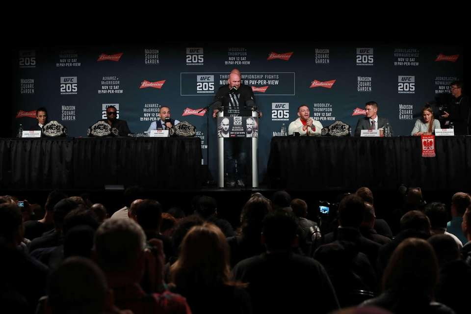 A general view from the UFC 205 press