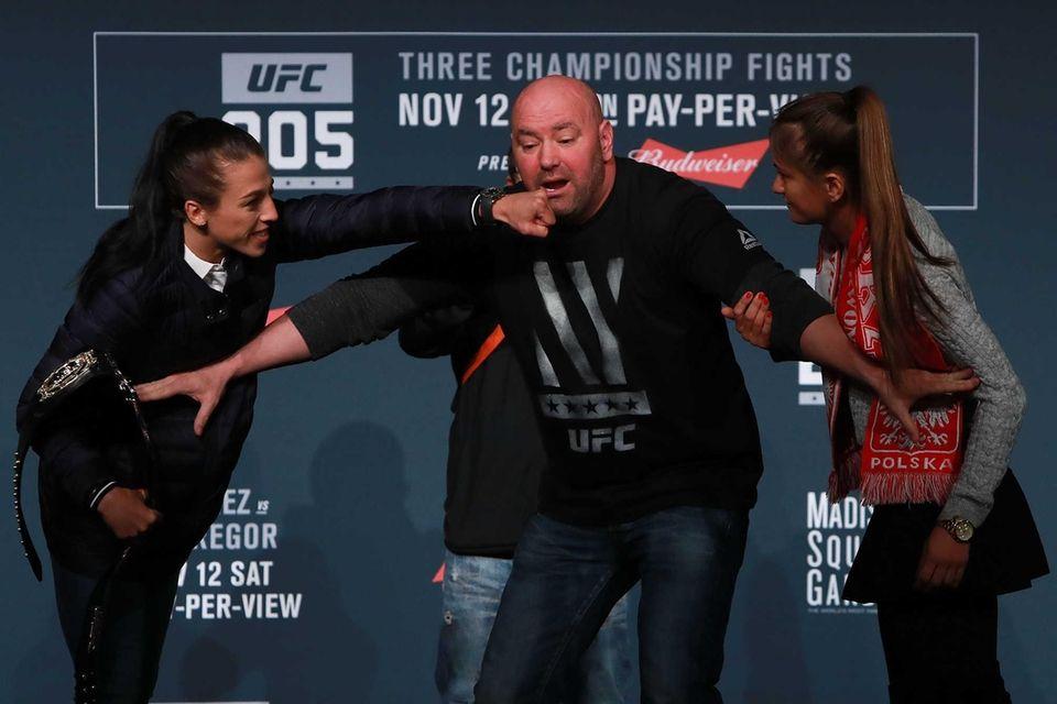 UFC president Dana White separates Joanna Jedrzejczyk and