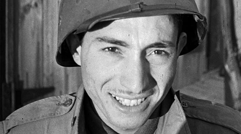 A wartime photo of combat soldier Tony Vaccaro,
