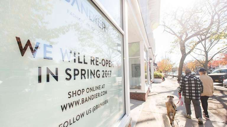 The window of the Bandier store on Main