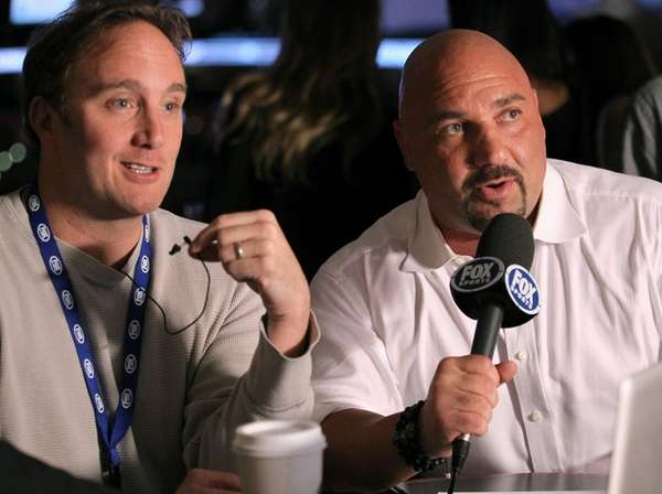Jay Mohr, left, and Jay Glazer attend the