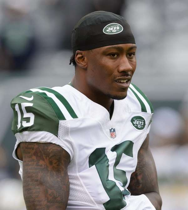 Jets wide receiver Brandon Marshall before a Week