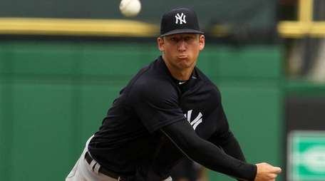 James Kaprielian of the Yankees pitches during the