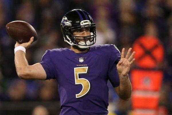 Quarterback Joe Flacco #5 of the Baltimore Ravens