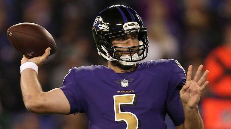 Quarterback Joe Flacco #5 of the Baltimore Ravens