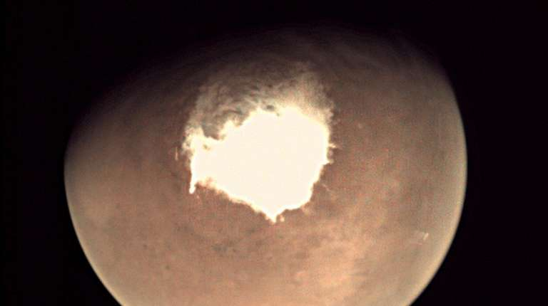 Planet Mars as seen by the webcam on