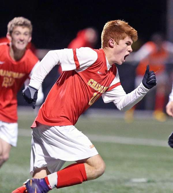 Chaminade's Timothy Davis scores winning goal during the